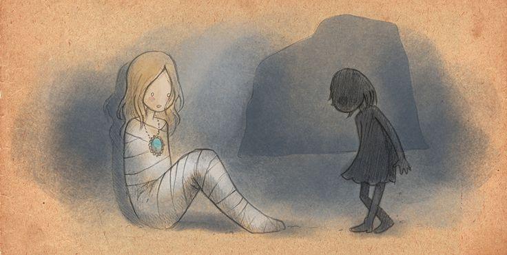 Een somber meisje