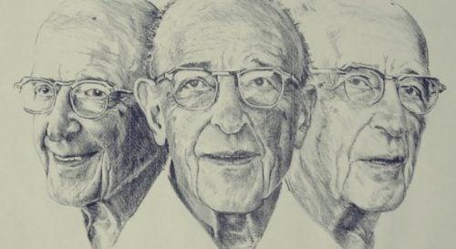 Tekening van het gezicht van Jung