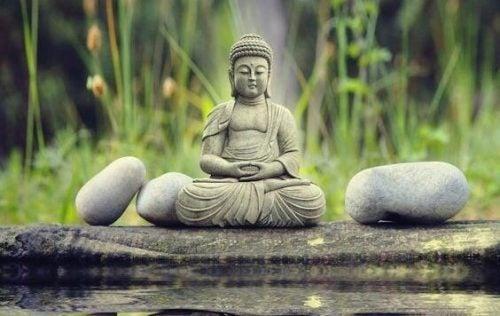 De diepten en de achtergrond in de Aziatische wijsheid