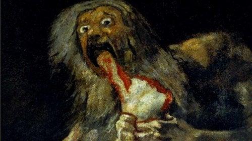 Goya, Saturnus die zijn zoon verslindt