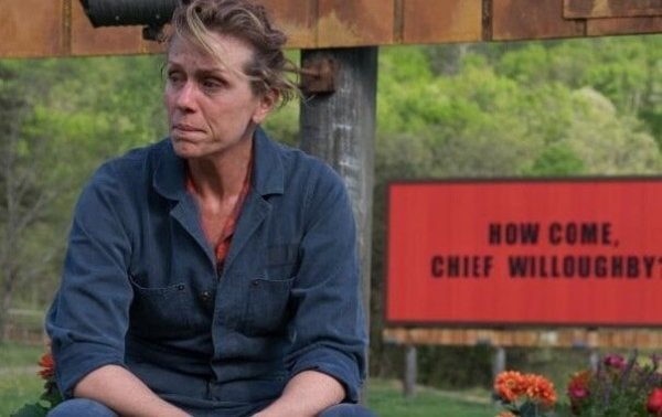 Francis McDormand in Three billboards outside Ebbing