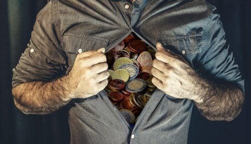 Man voor wie geld nauw aan het hart ligt