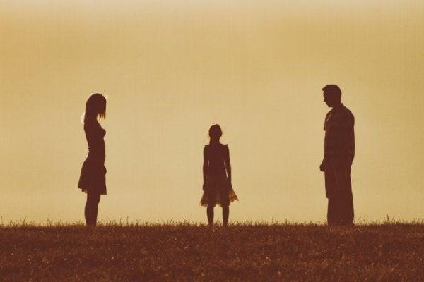 Gescheiden ouders met een kind