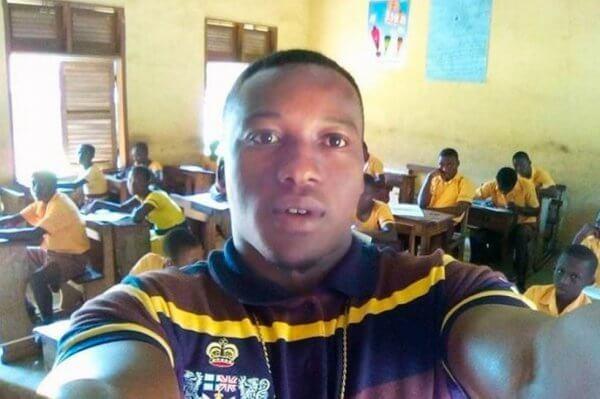 Ghanese leraar in de klas