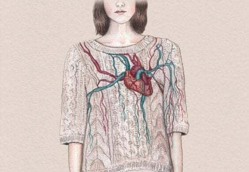 Meisje met een hart op haar trui