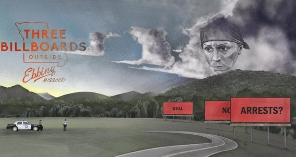 Poster van hree Billboards Outside Ebbing