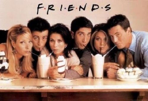 De serie Friends, ontmoetingen in een koffiebar