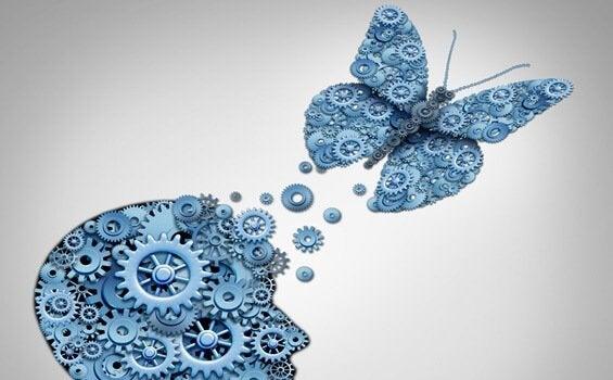 Vlinder met tandwielen