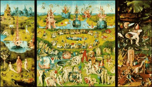 Tuin der Lusten schilderij