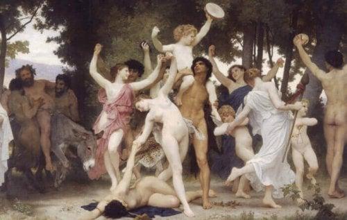 Schilderij van genot, de Jeugd van Bacchus