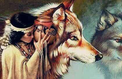 De indiaanse legende van de vrouw en de wolven