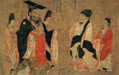 Tekening van het oude China