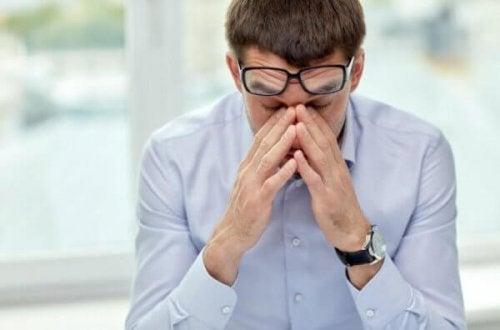 Man lijdt aan stress
