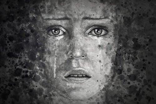 Portret van een huilend meisje