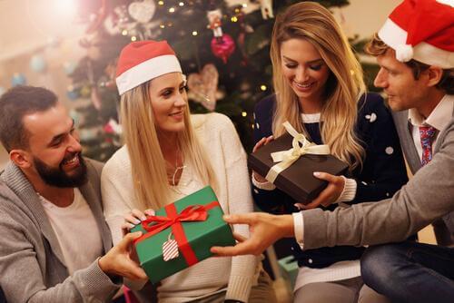 Geschenken uitwisselen met familie en vrienden
