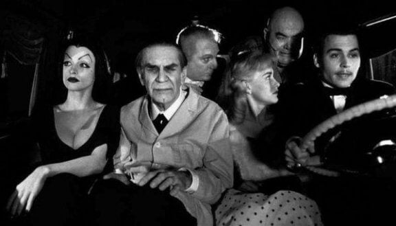 Ed Wood scene in auto