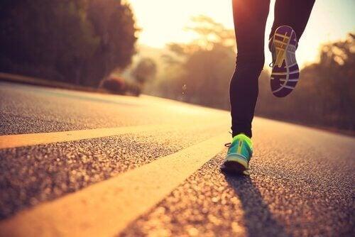 Hardlopen op de weg