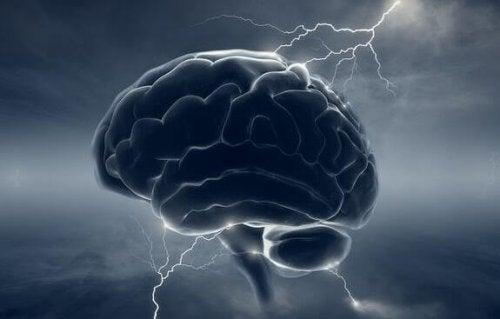 Hersenen worden geraakt door bliksem
