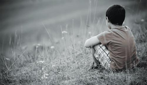Eenzame jongen
