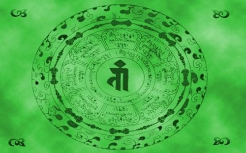 De mantra van groene tara