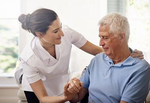 Patiënt met verzorger