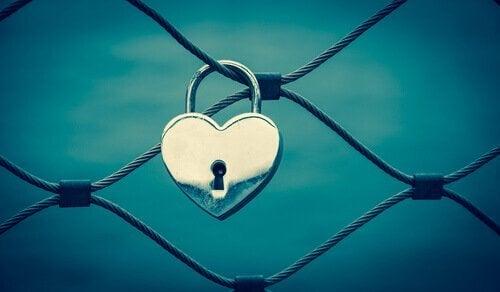 Slot in de vorm van een hartje