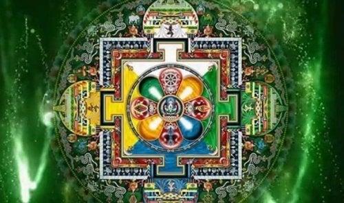 Afbeelding van een tantrisch symbool