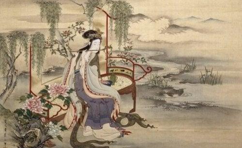 De dans van de bosgeesten: een prachtige Japanse fabel