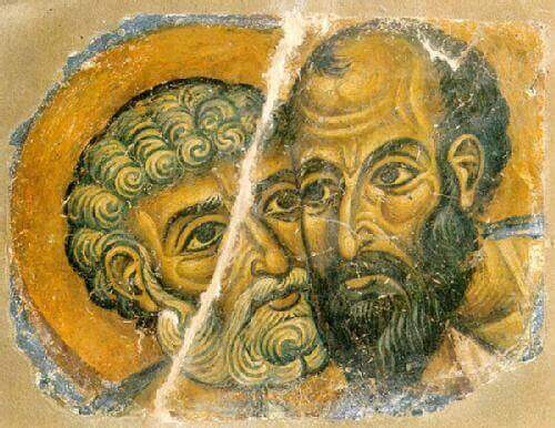 Twee mannen kijken elkaar in de ogen