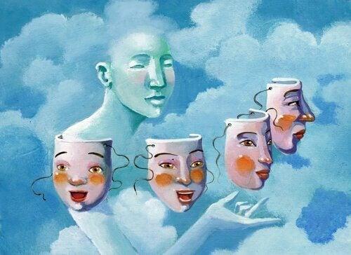 Man kiest een masker uit