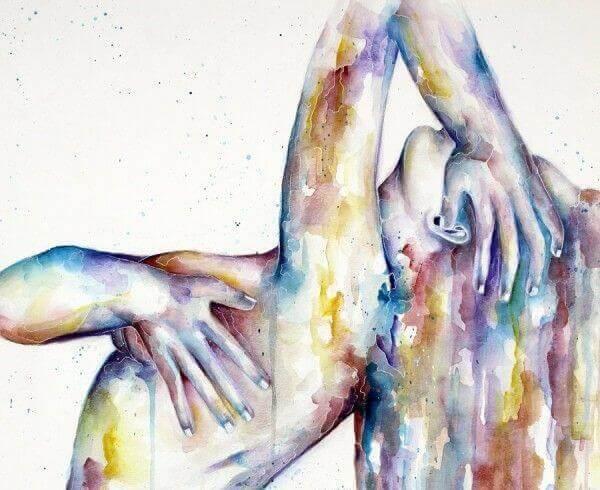 Schilderij van een naakte vrouw