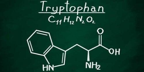 De formule van tryptofaan