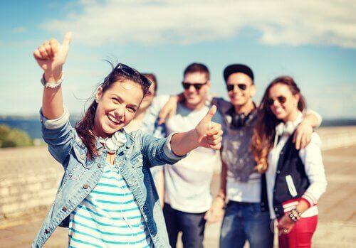 Groep adolescenten