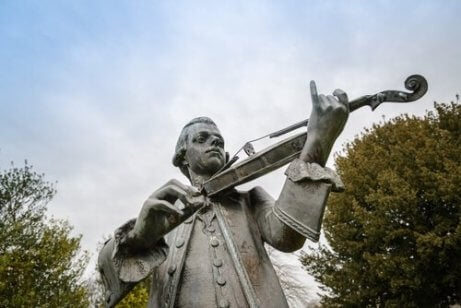 Standbeeld van Wolfgang Amadeus Mozart