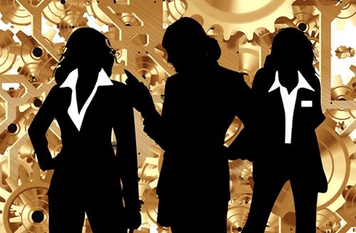Team van vrouwen