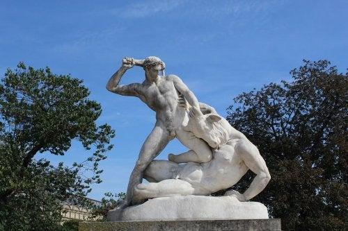 Een beeld van Theseus