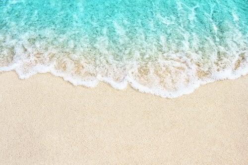 Golf op het strand