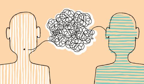 Communicatie tussen twee mensen