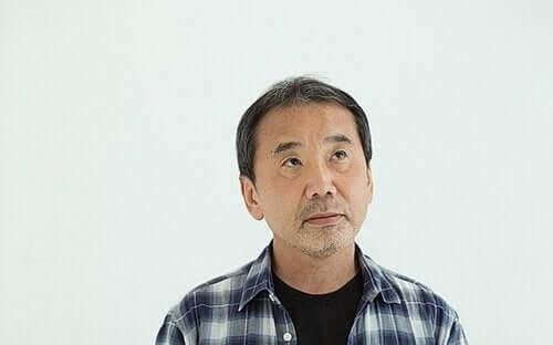 Foto van de japanse schrijver murakami
