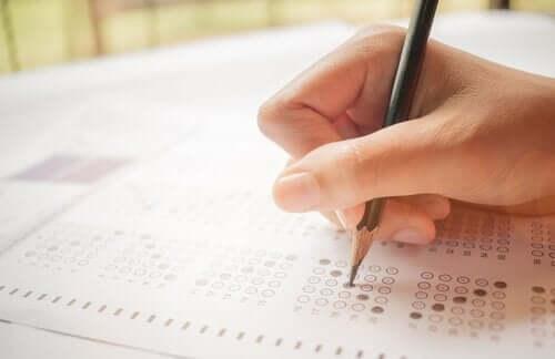 Het maken van een test