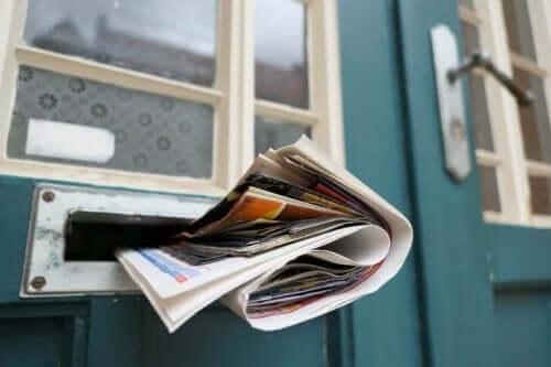 Krant in de brievenbus