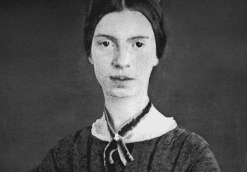Zwart-wit foto van Emily Dickinson