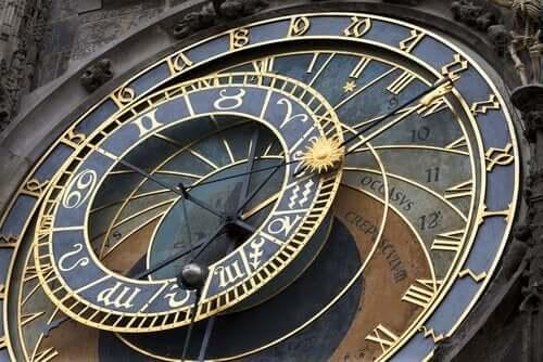 Grote oude klok in praag