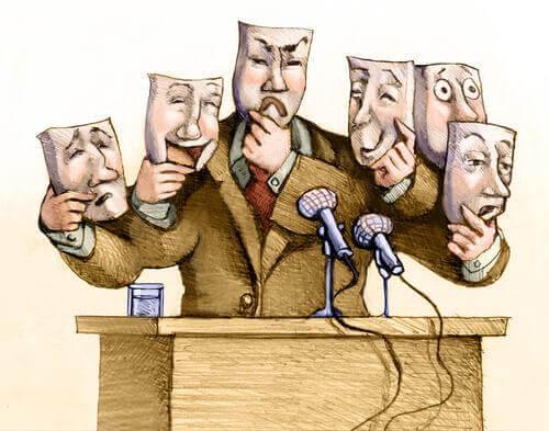 Politicus die een toespraak houdt