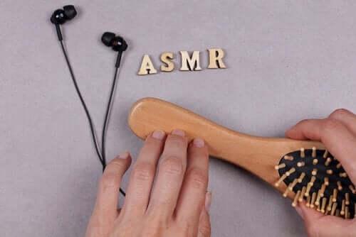 Een borstel en earphones