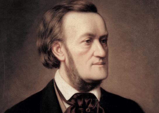 Een portret van de componist Wagner