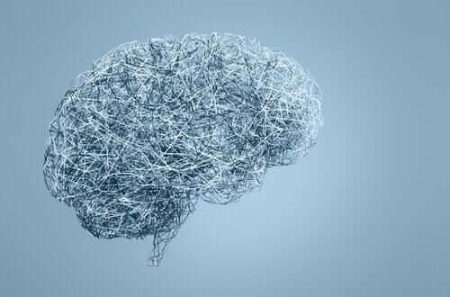 Afbeelding van hersenen gemaakt van ijzerdraad