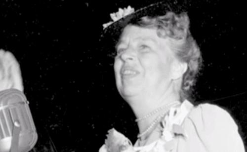Eleanor Roosevelt spreekt op een evenement