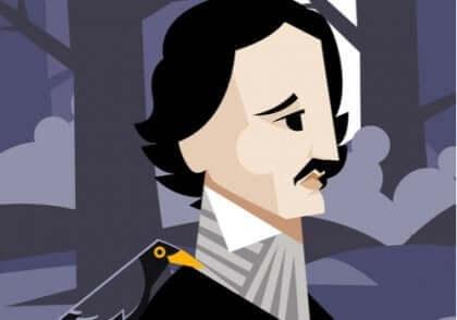 Cartoon afbeelding van de schrijver