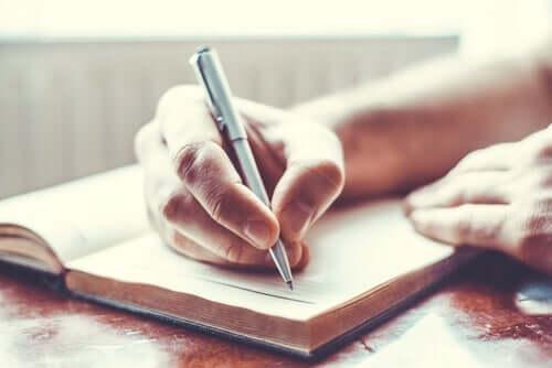 Het schrijven van een dagboek
